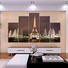 Canvas Print painting wall decor home art picture Eiffel Tower Paris(No Frame)