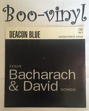 "Deacon Blue FOUR BACHARACH AND DAVID SONGS 7"" EP Single Jukebox Version  EX/EX"
