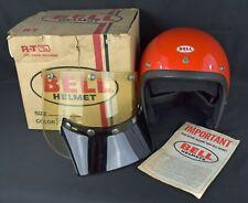 VTG ORIGINAL '76 BELL RT MAGNUM TOPTEX MOTORCYCLE CAR RACING ORANGE HELMET 7
