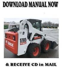 2008 Bobcat S185 skid steer loader factory service repair manual on CD