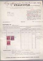 Receipt Invoice Italuinum Trieste Wines Italiani Stamp AMG Ftt