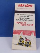 SKI-DOO SKI DOO SNOWMOBILE DEALER BERT'S LAWNMOWER ELMIRA ONT MATCHBOOK VINTAGE