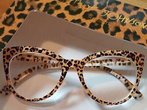NEW 1.50 Betsey Johnson READING GLASSES Oversize Cat Eye CHEETAH Readers