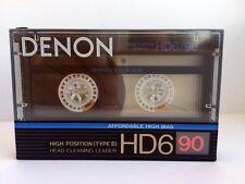 DENON HD6 90 BLANK AUDIO CASSETTE TAPE NEW RARE 1988 YEAR JAPAN MADE