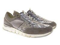 Waldläufer Damen Schuhe Sneaker Laufschuhe Freizeitschuh Gr 41 Silber/Grau Leder