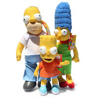 The Simpsons Homer & Marge Bart Simpson Stuffed Plush Toys Dolls 3PCS Kid's Gift