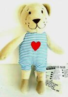 Ikea Teddy Bear Fabler Bjorn Blue Striped Red Heart Shirt Soft Plush Toy