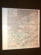 Guerra in Europa Anno 1914 Carta o Cartina della Fiandra o Flandre occidentale