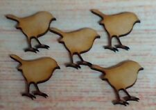 25x MDF  Robins  Laser Cut 30mm size  Craft Blanks/ Shapes  Embellishmets