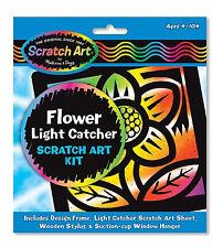 Melissa & Doug Flower Light Catcher Scratch Art Kit (3365) for kids