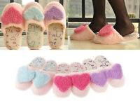 Korean Ladies Winter Warm Soft Cute Anti-slip Heart-shaped Women Slippers