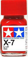 O TAMIYA COLOR GLOSS ENAMEL PAINT NEW 10ML X-7 RED