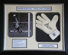 Peter Shilton Signed England Goalkeeper Glove Photo Display Framed AFTAL RD#175