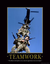 US Military Motivational Poster Art Marines Army Sniper Soldier Academy MILT04