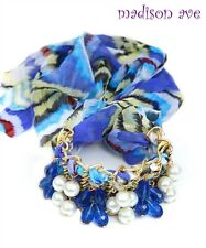 Blue Pearl Multi Use Headband Necklace Hair Accessory Belt Bracelet Anklet