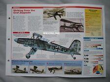 Aircraft of the World Card 29 , Group 12 - Fieseler Fi 167