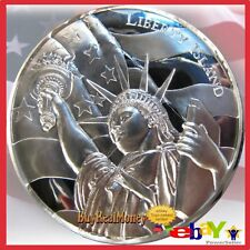 2 oz Liberty Island Ultra High Relief Silver Round From Fresh Mint Tube BU