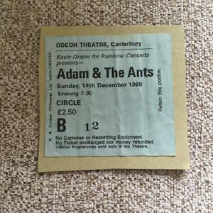 Adam & the Ants ticket Canterbury Odeon  14/12/80 #B12  taken from scrapbook