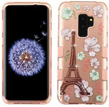 Samsung Galaxy S9+ PLUS - Hybrid Diamond Bling Case ROSE GOLD Paris Eiffel Tower