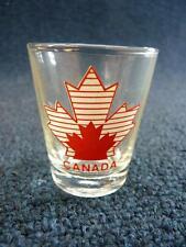 "Vintage Shot Glass Canada Maple Leaf 2.25"" (906)"