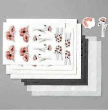 Stampin' Up! Peaceful Poppies Elements (Retired) ~ 8 sheets ~ NEW