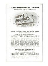 Vintage Advertising Card ISLAND TRANSPORTATION CO Mackinac Island St Ignace MI