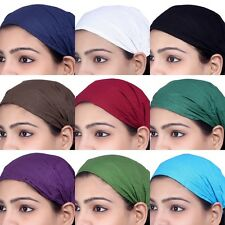 10 PCS Women Cotton Headband Solid Wide Hairband Bandana Lot Men Wrap Band Yoga
