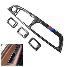 Carbon Fiber Power Window Panel Button Frame Cover Trim For BMW X5 E70 X6 E71