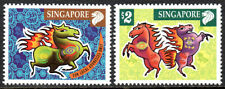 Singapore 999-1000, MNH. New Year. Year of the Horse, 2002