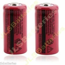 2 X 16340 2500mAh 3.7V CR123A 123A Li-ion Rechargeable Battery For Flashlight T5