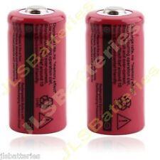 2 X TR16340 2500mAh 3.7V CR123A 123A Li-ion Rechargeable Battery Flashlight T5