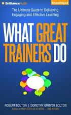 WHAT GREAT TRAINERS DO unabridged audio book on CD by ROBERT & DOROTHY BOLTON
