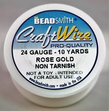 Beadsmith Craft Wire Pro Quality Rose Gold 24 Gauge 10 Yards