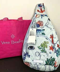 Vera Bradley Essential Compact Sling Bag Anchors Aweigh 27611 T92 New P-1