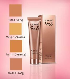 Lakme 9 to 5 Weightless Mousse Foundation  25 g- Choose Your Shade
