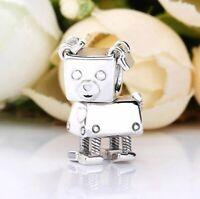 Silver Animal Bead Charm Cute Bella Bot's Pet Bobby Bot Dog Beads