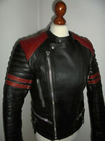 vintage EREL Motorradjacke Lederjacke 70s german motorcycle leather jacket 48