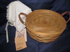 Vintage Longaberger 1986 Darning Basket Bowed up bottom 10x4 with white liner