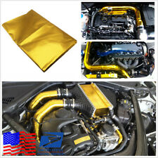 Car SUV 39x47'' Self Adhesive Reflect Gold Heat Wrap Barrier For Thermal Exhaust
