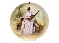 Antique Royal Vienna Porcelain Portrait Hand Painted Charger