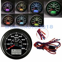 85mm GPS 80MPH 120km/h Speedometer Odometer Gauge For Car Truck Motorcycle Boat