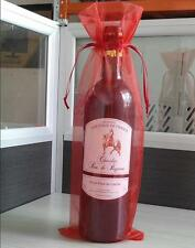 10 x pura organza botella de vino bolsas de regalo cubrir para fiesta boda