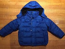 Brand New Calvin Klein Little Boys Puffer Winter Coat Jacket Size Small (4) Blue