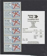 JERSEY 2015 Post & Go Frama FLAG Europhilex sovrastampa collezionisti STRIP 1d Nero