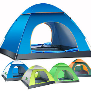 3-4Person Waterproof Foldable Camping Tent Instant Family Shelter Camping A