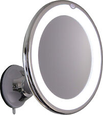 Makeup Mirror Lighted 8X Magnifying Vanity LED Light Joint Swivel Wall Mount
