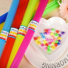 300 Pcs Mixed Colour 5mmX380mm Origami Lucky Star Folding Straw Girl Crafts Gift