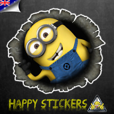 Bullet Minion Luggage Skateboard Bike Guitar Scooter Car Vinyl Decal Sticker