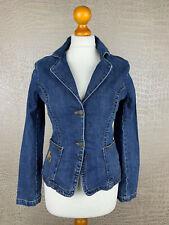 MEXX Damen Gr. 34 Jeansjacke blau Stretch Denim Blazer Jeans Jacket 405