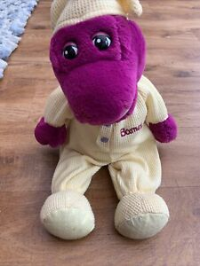 Barney The Dinosaur Bedtime Sleep Purple Yellow Teddy Bear 15 Inch